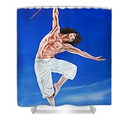Young Lovers Meet- Boy Shower Curtain