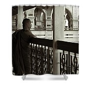 Young Monks In Mandalay Hill Shower Curtain