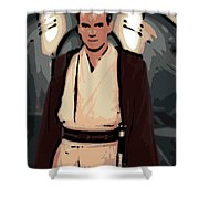 Young Obi Wan Kenobi Shower Curtain