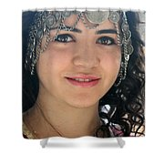 Young Palestinian In Traditional Dress In Bethlehem Shower Curtain