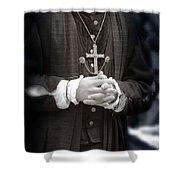 Young Renaissance Priest Shower Curtain