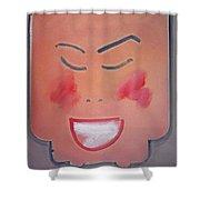 Young Woman Kimono Shower Curtain