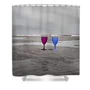 Your Wine Is Waiting Shower Curtain