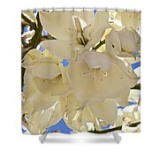 Yucca Flowers 3 Shower Curtain