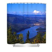 Yukon River In Fall Colors Shower Curtain