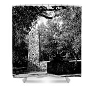 Yulee Sugarmill 2  Black And White Shower Curtain