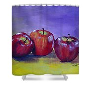 Yummy Apples Shower Curtain
