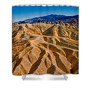 Zabriskie Point Badlands Shower Curtain