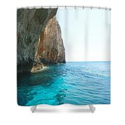 Zakynthos Blue Caves Shower Curtain