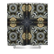 Zebra Cross II Shower Curtain
