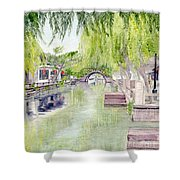 Zhou Zhuang Watertown Suchou China 2006 Shower Curtain