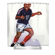 Zinedine Zidane 01 Shower Curtain