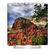 Zion As Water Color Shower Curtain