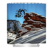Zion National Park In Winter Shower Curtain
