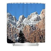 Zion Towers Shower Curtain