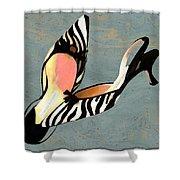 Zippy Zebra Slings Shower Curtain