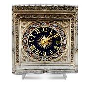Zodiac Clock Shower Curtain