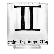 Zodiac: Gemini Shower Curtain