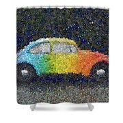 Zodiac Vw Bug Mosaic Shower Curtain