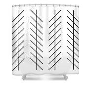 Zoellner Illusion Shower Curtain