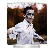 Zombiefied Shower Curtain