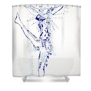 Zulu Dance  South Africa Shower Curtain