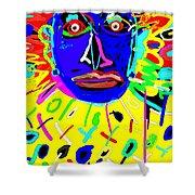 Zulu Yellow- Turquoise Shower Curtain
