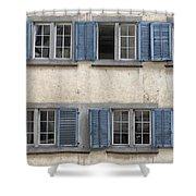 Zurich Window Shutters Shower Curtain