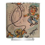 A Child's Play Time Shower Curtain