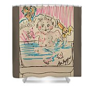 Bathing Time Shower Curtain