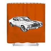 1971 Chevrolet Chevelle Ss Illustration Shower Curtain