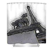 # 4 Paris France Shower Curtain