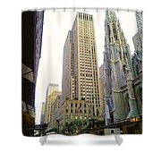 50th Street Shower Curtain