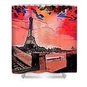 # 9 Paris France Shower Curtain