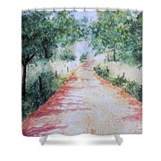 A Country Road Shower Curtain