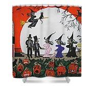 A Halloween Wedding Shower Curtain