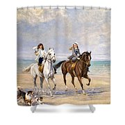 A Ride By The Sea Shower Curtain