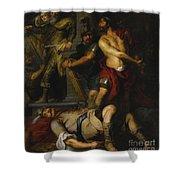 A Roman Execution Shower Curtain