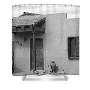 Adobe House  Shower Curtain