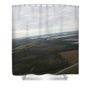 Aerial View Of Fort Myers Shower Curtain