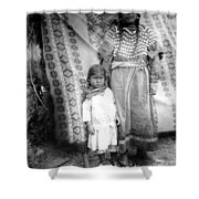 American Indian Woman Female Daughter 1890s Shower Curtain