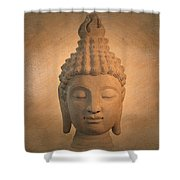 Antique Oil Effect Buddha Sukhothai , Shower Curtain