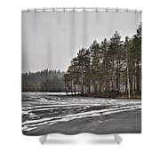 April Snow 3 Shower Curtain