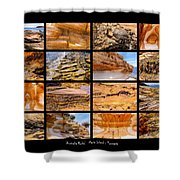 ' Australia Rocks ' - Maria Island - Tasmania Shower Curtain