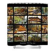 ' Australia Rocks ' - The Dripping Gorge - New South Wales Shower Curtain