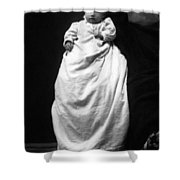 Baby In Long Dress 1903 Black White 1900s Shower Curtain