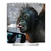 Baby Orangutan Shower Curtain