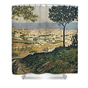 Barcelona Seen From Vallvidrera Shower Curtain