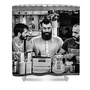 Three Barmen Shower Curtain