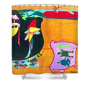 Beauty Contest For Aliens Shower Curtain